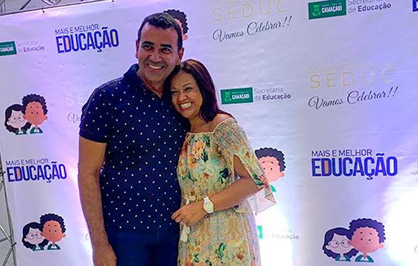 Júnior Borges e Neurilene Martins (Secretária de Educação)